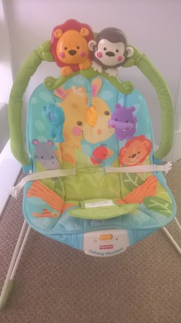 Plastic bouncy seat, up to 6 months. £5